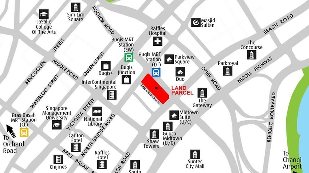 Midtown Modern Location Map Singapore