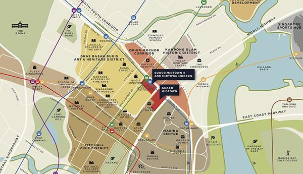 Midtown Modern Location Map Thumbnail Singapore